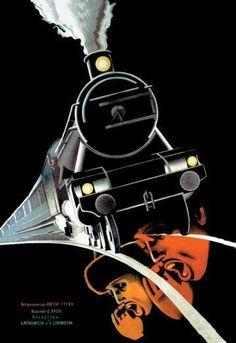 Turksib (Screaming Train) 28x42 Giclee on Canvas