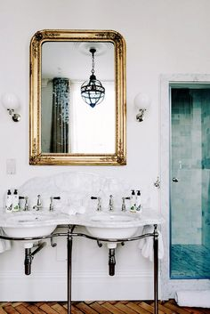 bathroom inspiration - Artist Residence Boutique Hotel in London. love these vanities