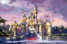 Disney Castle Cross Stitch Pattern por BoutiquedeBritta en Etsy, $8.75
