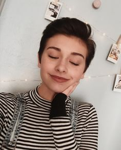 instagram: @anikasaurus. ohmygoodness, look at this cutie!! this is what I looked like with my short hair, but better. <3