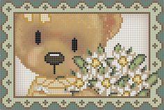 Cross Stitch Cards, Animal Crackers, Pixel Art, Cross Stitch Patterns, Teddy Bear, Knitting, Crochet, Projects, Crafts