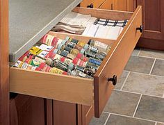 Spice Drawer Insert - Columbia CabinetWorks