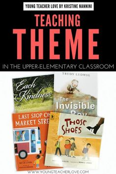 Teaching Theme Mentor Texts - This blog post is full of great ideas and activities to help teach theme. You'll find a great FREE determining theme anchor chart, mentor text suggestions, and much more. These are great for your 3rd, 4th, 5th, or 6th grade upper elementary students. #YoungTeacherLove #Theme #MentorTexts 6th Grade Ela, 6th Grade Reading, Middle School Reading, Third Grade, Fourth Grade, Sixth Grade, Seventh Grade, Reading Lessons, Reading Skills