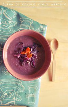 Zuppa di cavolo viola arrosto