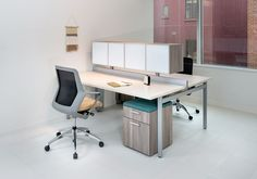 STAKS Benching by First Office shown with Flexxy Swivel by OFS. OFS Brands DC…
