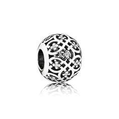 Pandora Openwork Lattice Charm 791295CZ | John Greed Jewellery