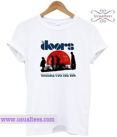 The Doors Waiting For The Sun T Shirt from usualtees.com This t-shirt is Made To Order, one by one printed so we can control the quality.