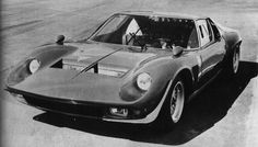 A rare photo of the original Lamborghini Miura Jota built by Bob Wallace, sadly it was lost in an accident.