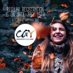Regular Registration is on until July 15th.