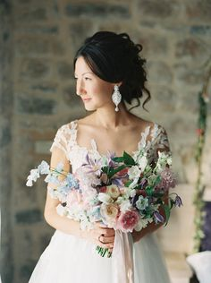 Dreamy Mountainside Wedding Inspiration (Once Wed) Bride Bouquets, Bridesmaid Bouquet, Bridesmaids, Phuket Wedding, Floral Wedding, Olive Wedding, Wedding Dress, Wedding Bride, Forest Wedding