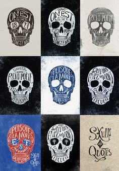 Skulls & Quotes by BMD Design , via Behance