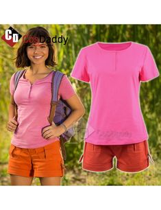 Dora the Explorer Dora and the Lost City of Gold Shirt Short Cosplay Costume For Adults Aladdin Cosplay, Aladdin Costume, Halloween Outfits, Halloween Ideas, Halloween Costumes, Adult Costumes, Cosplay Costumes, Dora Costume, Dora Movie