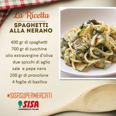"""#SISAsupermercati #ricette ➡Ricetta da www.buttalapasta.it⬅ """"Spaghetti alla nerano"""" Un piatto tipico della tradizione napoletana con un perfetto abbinamento tra pasta e zucchine. Una ricetta facile e veloce!"""