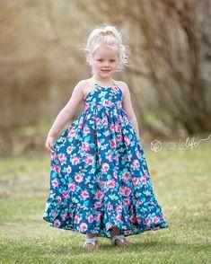 Toddler Maxi Dresses, Little Girl Dresses, Toddler Dress, Kids Frocks, Frocks For Girls, Kids Dress Patterns, Little Girl Dress Patterns, Pdf Sewing Patterns, The Simple Life