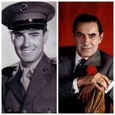 Tyrone Power-Marines-WW2-Captain-flew missions carrying cargo in and wounded Marines out -received numerous medals (Actor)