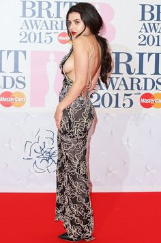 Charli XCX flashed so much sideboob on the red carpet at the Brit Awards that even she worried she'd have a wardrobe malfunction