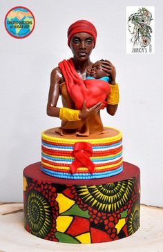Hi, here is my small contribution for the Getting to Zero collaboration. There is no story behind the piece, she is an average, strong, fierce and brave African mum. Modeling chocolate and fondant. Thank you for Zawadi Parizek for this great. Gorgeous Cakes, Pretty Cakes, Cute Cakes, Amazing Cakes, Unique Cakes, Creative Cakes, Africa Cake, African Wedding Cakes, Fondant Cakes
