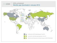 Android App Downloads jetzt auch in Deutschland vor iOS