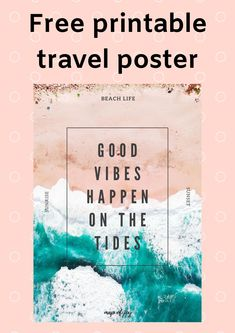 Looking for a free printable travel poster with an ocean theme? Look no further. You can download it here for free! #printable #freeprintable #freedownload #mapofjoy North Europe, Ocean Themes, City Break, Outdoor Travel, Good Vibes, Travel Posters, Free Printables, Travel Tips, Road Trip