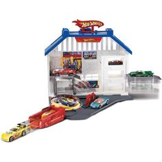 hot wheels playsets | ... trato no seu carrinho com o Hot Wheels Playset Especial Oficina Mattel