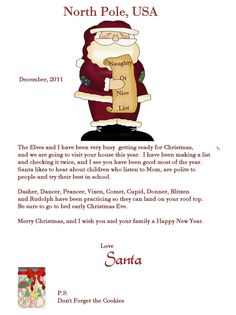 ezsantaletters com santa letter for childs 1st christmas