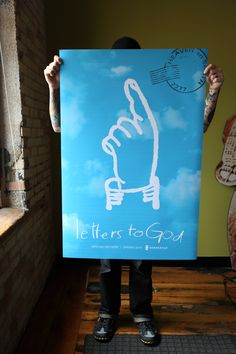 'Letters to God' poster designed by Extra Credit Projects for the book's opening campaign.