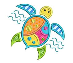 This is a colorful little turtle applique machine embroidery design. 3 sizes are supplied with purchase - inch hoops. Lots of machine formats. Machine Embroidery Projects, Machine Embroidery Applique, Silk Ribbon Embroidery, Embroidery Thread, Machine Applique Designs, Advanced Embroidery, Embroidery Tattoo, Embroidery Ideas, Applique Templates