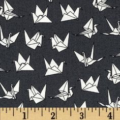 Sakura Origami Gray from @fabricdotcom  Designed by The Henley Studio for Makower/Andover, this cotton print is perfect for quilting, apparel and home decor accents. Colors include charcoal and white.