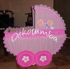 Cuna de caja para baby shower - Imagui