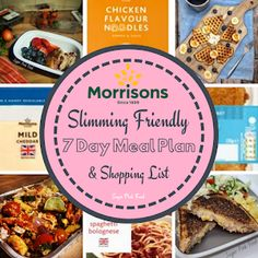 Aldi 7 Day Slimming World Friendly Meal Plan & Shopping List - Sugar Pink Food Slimming World Healthy Extras, Slimming World Diet, Slimming World Recipes, Kitchen Recipes, My Recipes, Family Recipes, Recipes Dinner, Diet Recipes, Easy Family Meals