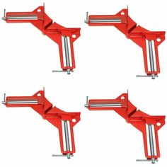 """4Pcs 90 Degree Right Angle Miter Corner Clamp 3"""" Capacity Picture Frame Jig Ju"""