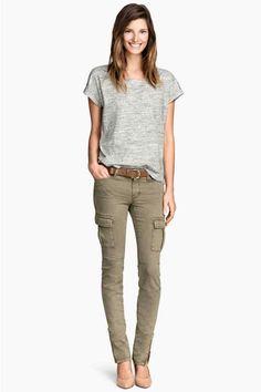 Pantaloni cargo misto lyocell   H&M