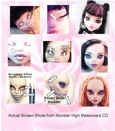 Monster High Doll Repaint Customizing Tutorial CD How to Repaint ...