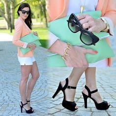 diy sandals | Outfits / Zara Blazer, Bata Sandals, H Shorts, Diy Clutch