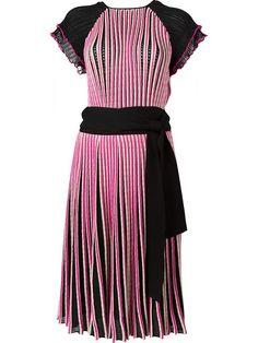 SALVATORE FERRAGAMO Ribbed A-Line Dress. #salvatoreferragamo #cloth #dress