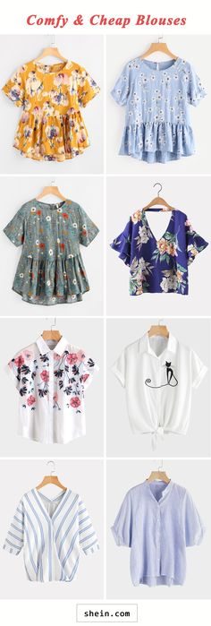 Comfy blouses start at $6!