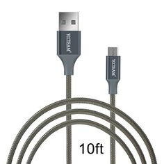 Introducing Micro USB CordYCCTEAM Premium 10 Feet USB 20 Sync Data Fast Charging Cable Cord For Samsung Galaxy S7 S6  Edge S4 S3 Note 5  4  2Google NexusLGHTCNokiaBlackberry And More Gray. Great product and follow us for more updates!