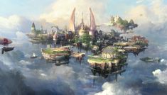 Sky_castle, Paperblue .net on ArtStation at https://www.artstation.com/artwork/KA3bB