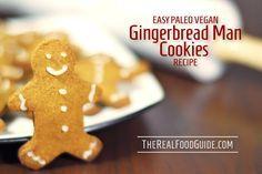 Easy paleo vegan gingerbread man cookies recipe - nut-free, dairy-free, egg-free, grain-free
