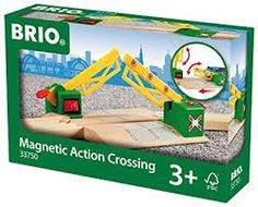 BRIO Magnetic Action Crossing Barriers lower automatically activated by passing train Helps develop hand-eye coordination and sparks creative play
