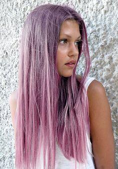 Pink purple hair color
