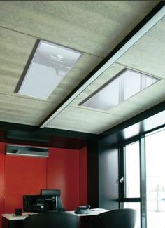 Szklane panele grzewcze z serii Radius Glass - ogrzewanie biura