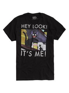 Studio Ghibli Kiki's Delivery Service Jiji Hey Look It's Me T-Shirt | Hot Topic