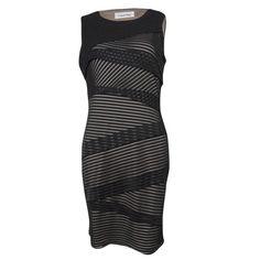 Tiered Mesh Striped Sheath Dress Fantastic party dress! Calvin Klein Dresses