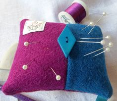 Harris Tweed Pincushion with Lavender by TheFabulousMrG on Etsy
