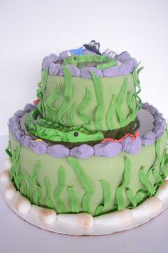 Gator Boy Birthday Cake