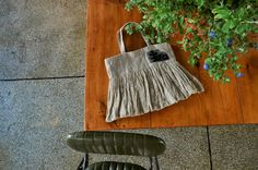 http://blog.naver.com/teatwice  flax linen works to design. Light and chic linen tote bag.