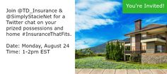 See you at the #InsuranceThatFits Twitter Chat on August 24! - Tales of a Ranting Ginger