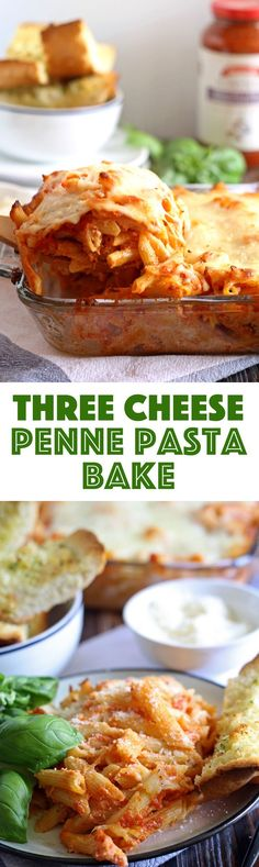 This three cheese penne pasta bake is perfect for family meals! Get dinner on the table quickly and serve with a side salad and garlic bread.   honeyandbirch.com  https://ooh.li/1894378 #sponsored #FallForFlavor