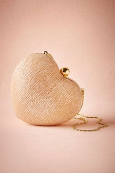 BHLDN Blush Heart Clutch in  Shoes & Accessories Clutches & Gloves at BHLDN